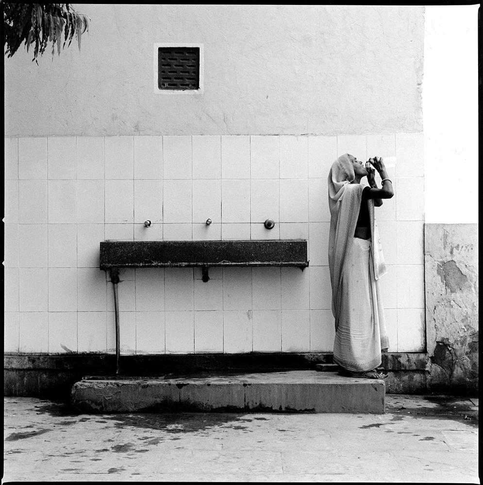 Woman Drinking in Jaipur