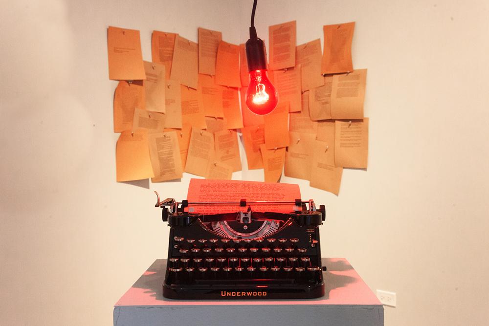 Marina Black detail typrwriter