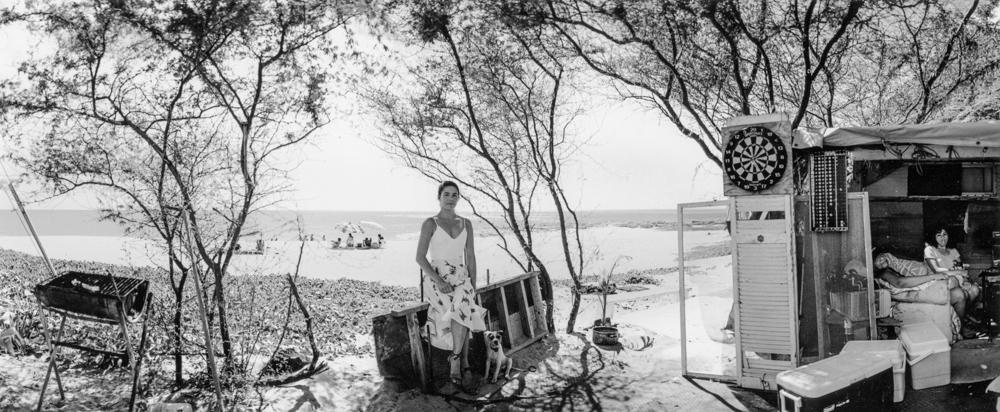 Greevy_Barbara_Avelino_sitting_outside_her_beach_house_Mākua_Valley_June_1996_08