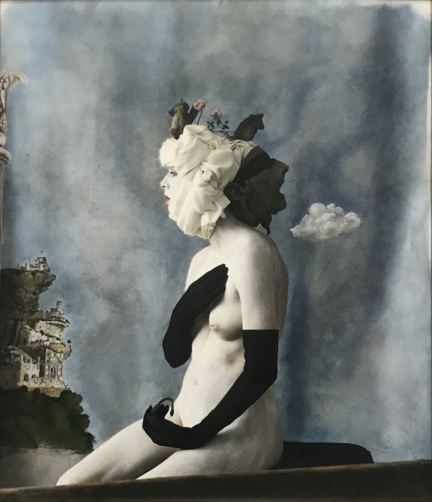 Prudence, Paris, 1996-2021 gelatin silver print, hand-colored encaustic copyright Joel-Peter Witkin, courtesy Etherton Gallery
