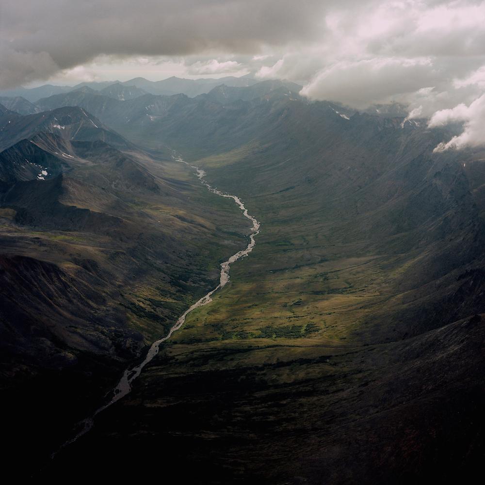 Kigluaik Mountains photographed flying between Nome and Shishmaref, Alaska. 2016.
