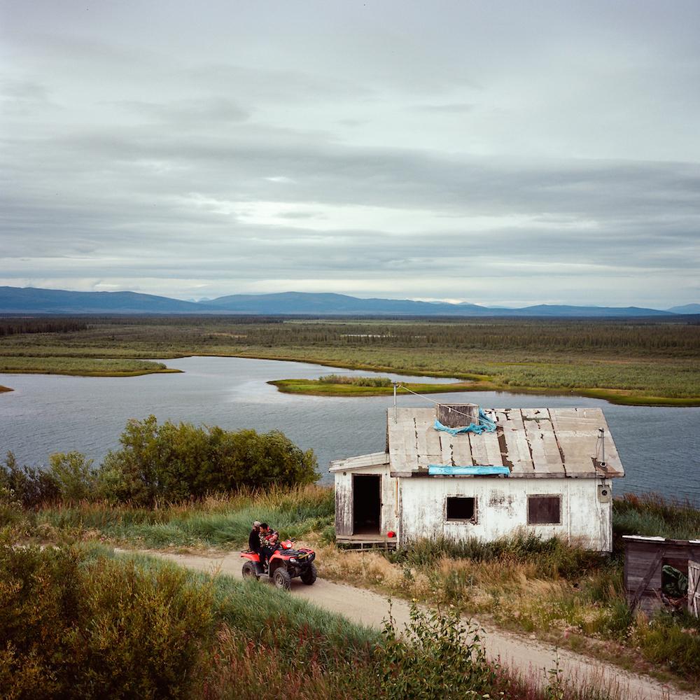 Overlooking the old townsite of Noorvik and the Nazuruk Channel of the Kobuk River. Noorvik, Alaska. 2016.