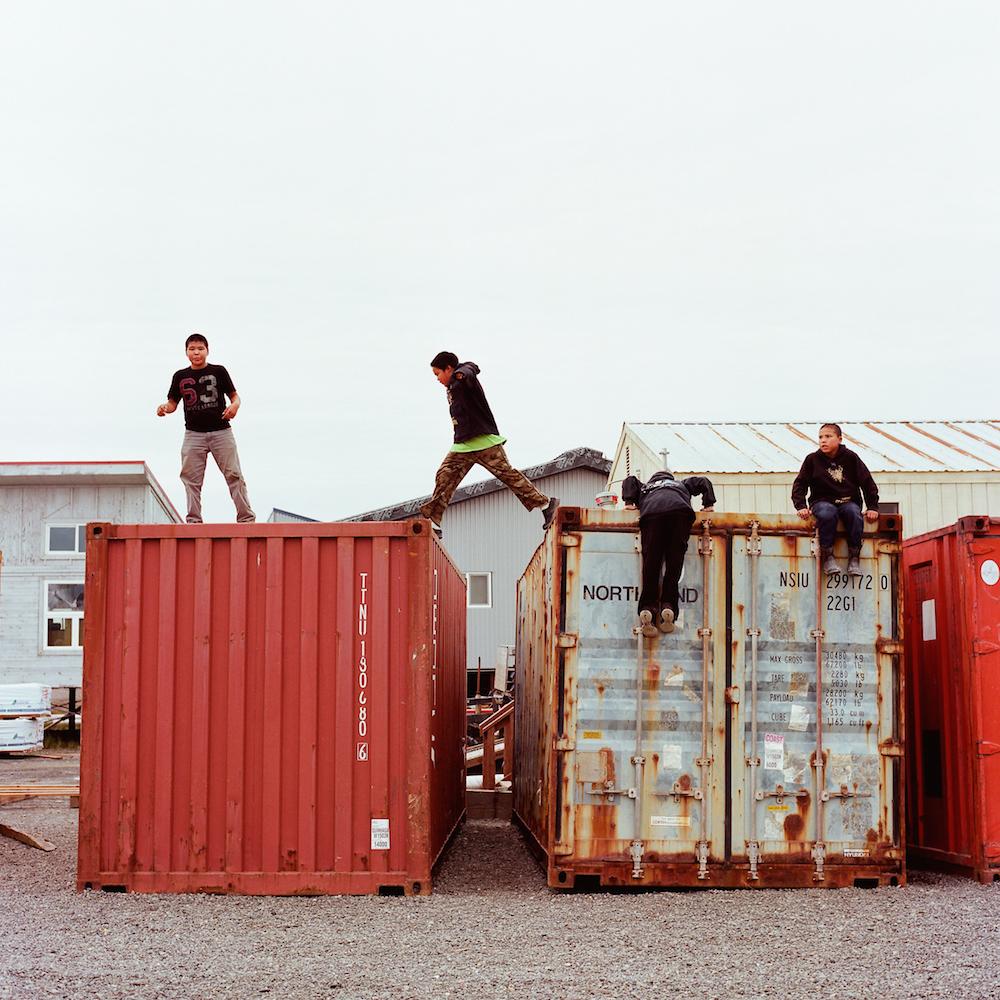Kids playing in Quinhagak, Alaska. 2015