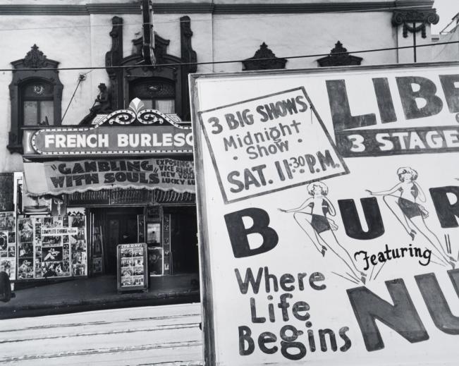 John Gutman Burlesque on Broadway, San Francisco, 1934
